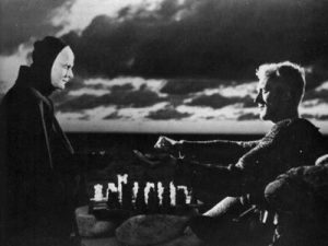 Image: The Seventh Seal (1957) - Playing Chess with Death - Ingmar Bergman